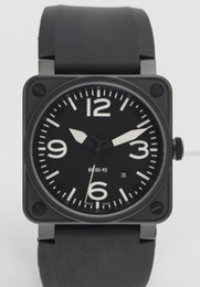 Low mechanicaL watches online shopping - Hot Sale Men Automatic Movement Luxury Mechanical Black Rubber Wristwatches Swiss Brand Square Date Stainless Mens Dress Watches Low Prices