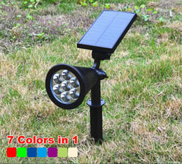 $enCountryForm.capitalKeyWord Canada - Solar Spotlight LED Solar Lawn Light Outdoor waterproof Solar Lamp Powered Garden Light For Landscape Yard Deck Pathway