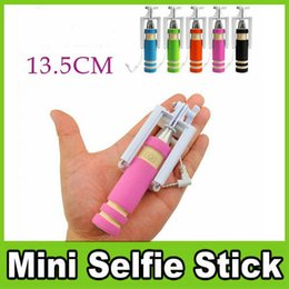 $enCountryForm.capitalKeyWord Canada - Foldable Super Mini Wired Selfie Stick Handheld Extendable Monopod -Built in Bluetooth Shutter Non-slip Handle Compatible with phone OM-CC8