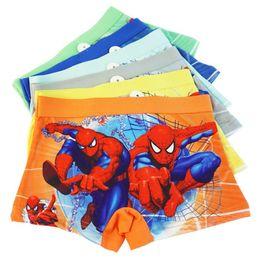Chinese  Children's Underwear Cotton Baby Boxers Spiderman Boys Underwear Panties Briefs Size:3-12years Color random manufacturers
