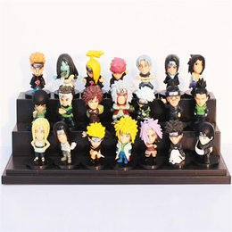 Chinese  Cartoon Anime Naruto PVC Collectable Figure Model Toys Doll 5cm 21pcs set Gifts for kids Free shipping manufacturers