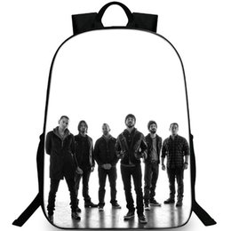 Discount linkin park band - Popular backpack Linkin Park daypack Rock band schoolbag Leisure rucksack Sport school bag Outdoor day pack