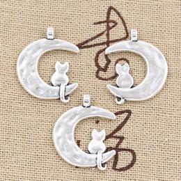 $enCountryForm.capitalKeyWord Canada - 100pcs Charms moon cat 22*18mm Antique,Zinc alloy pendant fit,Vintage Tibetan Silver,DIY for bracelet necklace