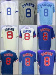 654e861c2 2018 Flexbase  8 Andre Dawson Home Away Baseball Jersey Blue Gray Green  White Pinstripe Cool Base Stitched Jerseys
