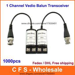 Camera CCtv bnC video balun online shopping - 1000pcs Twisted Video Balun Passive Transceiver BNC One Channel Vedio Balun for CCTV Camera Fedex DHL