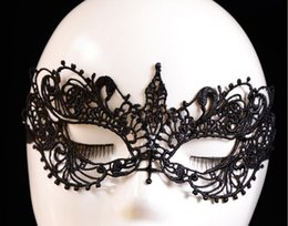 dancing mask for girls 2019 - 2017 New Sexy Lace Party Masks Women Ladies Girls Halloween Xmas Cosplay Costume Masquerade Dancing Valentine Half Face