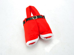 Best Gift For Xmas Australia - 2015 best Santa pants style Christmas Decoration Christmas Wedding Candy Bags Lovely Gifts Xmas Bag For Children 20X17CM