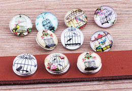 snap animals NZ - JACK88 NEW Mixed Style 100pcs lot Birdcage Snaps 18 mm Snap Button Fit Ginger Snap Charm Bracelet Snap Button Jewelry N895