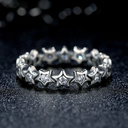 27bcafbd1 925 Sterling Silver Starshine Rings with Clear Cubic Zirconia Original  Pandora Style Promise Engagement Rings for Women R057