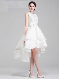 $enCountryForm.capitalKeyWord NZ - 2020 New design wedding dress Vintage Plus Size Chiffon High Low Wedding Dresses Bridal Gown Custom Made vestido de noiva