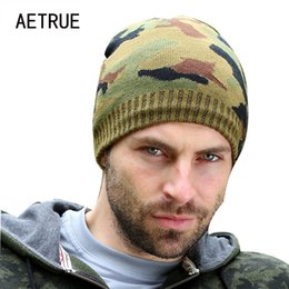 Discount balaclava knitting - AETRUE New Brand Knit Men Winter Hats For Men Women Bonnet Beanies Skullies Caps Winter Hat Cap Balaclava Beanie Gorros
