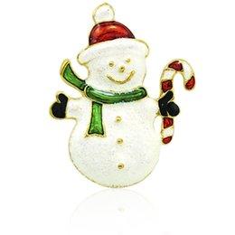 Arts,crafts & Sewing Hoomall Brooch Led Glowing Cartoon Santa Claus Snowman Deer Christmas Brooch Pin Cute Xmas Toy Flag Pin Art Pin