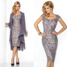 $enCountryForm.capitalKeyWord Canada - Short Elegant Evening Dresses Lace Mother of the Bride Groom Dress Wedding Party Gowns Long Sleeves Chiffon Jacket