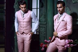 $enCountryForm.capitalKeyWord Canada - Charming Pink Men's Wedding Suits Men's Suit Jacket Tuxedo Sale Handsome Business Tuxedo Suits Peaked Lapel Groom Suits New Coming