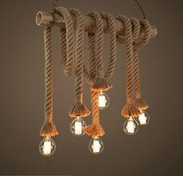 Discount rope light designs rope light designs 2018 on sale at discount rope light designs new design retro single heads rope pendant lights loft vintage lamp aloadofball Choice Image