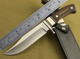 Browning Fixed Blades Canada - Browning Straight Camping Knife 7Cr17 Blade Tactical Survival Knives Fixed Outdoor Tool Camping Knife With Bone & Ebony Handle