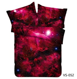 Chinese  Wholesale- New Galaxy Theme Incredible Red Nebula galaxy bedding Set manufacturers