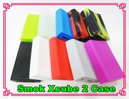 Vapor mod skins online shopping - Silicone Case Silicon Cases Bag Colorful Rubber Sleeve Protective Cover Skin For Smoktech x cube II W Smok Xcube TC Vapor Mod