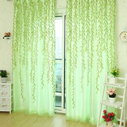 $enCountryForm.capitalKeyWord Canada - Sheer Curtains 1x2M Home Textile Tree Willow Curtains Blinds Voile Tulle Room Curtain Sheer Panel Drapes forroom living room kitchen