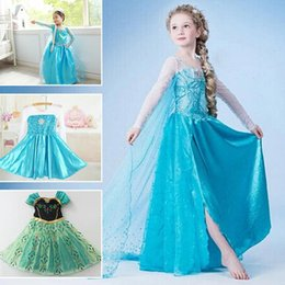 Fille De Mode Années Enfants Pas Cher-2016 la mode princesse Girl Dress Kid Dress Baby Girl Pour Robes Vêtements 2-10 ans Marque enfants Girl Dress cosplay costume Parti Menina