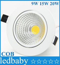 Led recessed ceiLing cabinet Light online shopping - White Dimmable cob Led Down Lights Angle High Power W W W Led Recessed Downlights Ceiling Cabinet Lamp AC V Power Supply