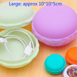 Jewelry Cable Canada - Free Ship 20pcs Large 10*10*5cm Macaroon Box Cable Jewelry Box Gift Earrings Rings Necklaces Wedding Storage Box