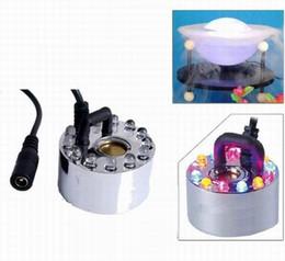 Envío libre al por mayor Nuevo 12 LED de luz colorida generador de niebla ultrasónico Fogger purificar la fuente de agua de la charca