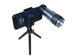 Iphone Telescope 12x Canada - Useful popular 12x Zoom Optical Lens Mobile Phone Telescope Camera with Tripod for iphone 4 4s 5 6 htc xiaomi samsung