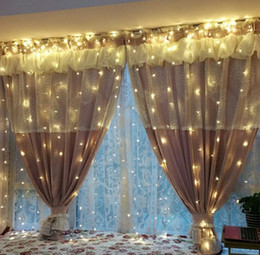 decorative stars for parties Canada - 3M x 3M 300LED Outdoor Home Christmas Decorative xmas String Fairy Curtain Strip Garlands Lights String For Party Decorations