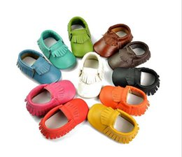 Barato Botas De Couro Para Calçado-New Arrive Baby moccasins soft moccs baby booties toddler shoes