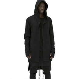 50c0afddc5 2017 extend Men Hooded Cloak New Brand Mens Sweatshirt Hoodie Solid Zipper Hip  Hop Mens Hoodies Cloak Long Famous Brand clothing