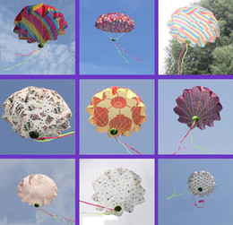 Wholesale 2016 New Hot Wholesale-China Throwed parachute flying umbrella umbrella throwing children's educational toys 50cm Colors mix