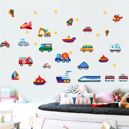 $enCountryForm.capitalKeyWord Canada - Cars Train Motor Bike Ship Transportation Wall Stickers for Kids room Decoration Decals Children Wall Art Car Sticker