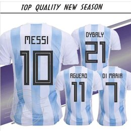 $enCountryForm.capitalKeyWord Canada - Top quality New season 2018 Argentina World Cup soccer Jersey 2018 MESSI home DI MARIA AGUERO thai quality Argentina football shirts