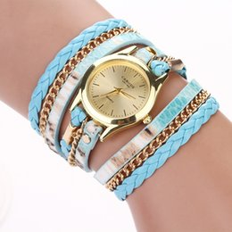 $enCountryForm.capitalKeyWord Canada - 2015 fashion leopard print long strap leather watch wrap around lady dress quartz watch roman style watch for lady