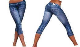 Look Sexy Jean Pas Cher-leggings mode jean regard gros-Tendues 3R8241 Livraison gratuite Hot vente Sexy Lady leggings sexy Imprimer Jeans à Big Discount