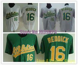 ... 2016 NWT Oakland Athletics 16 Josh Reddick Jersey White Green Grey  Yellow Stitched Quality Cheap Baseball ... 73cd4bbe0