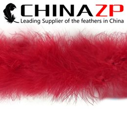 China Leading Supplier CHINAZP Crafts Factory 2yards lot Fantastic Top Quality Red Marabou Feather Boas for Masquerade Balls suppliers