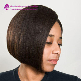 $enCountryForm.capitalKeyWord Canada - Short Bob Italian Yaki Lace Front Wig Unprocessed Brazilian Human Hair Glueless Full Lace Bob Wigs Light yaki For Black Women