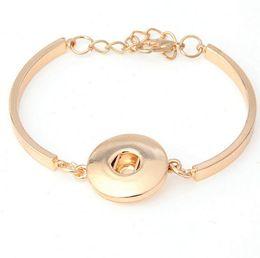 $enCountryForm.capitalKeyWord Canada - Fashion NOOSA Chunks DIY Bracelet Simple Design Gold Plated Ginger Snap Button Charm Bracelet Interchangable Jewelry For Women