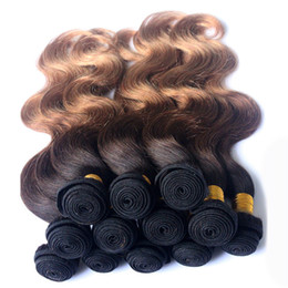 $enCountryForm.capitalKeyWord Canada - Cheap Ombre Brazilian Body Wave Human Hair Weaves T1b 33 27 Three Tone Virgin Hair Bundles 10-30 inch Ombre Hair Extensions 4pcs