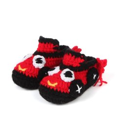 Calcetines Para Caminar Niños Baratos-Baby Girl Boy Crochet Study Walking Low Low Through Car Model Girls First Walkers Calcetines de bebé recién nacido para niños pequeños