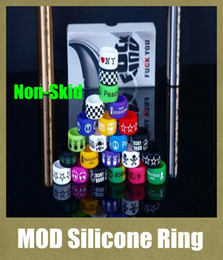Discount color mods - Silicone Ring for e Cigarette Mod Vapor Silicone Band Vape Ring Various Color Non-Skid Non-Slip Silicone Ring for mechan