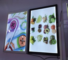 $enCountryForm.capitalKeyWord UK - Ultra Slim Magnetic Led Advertising Light Boxes Signs A2 Size Aluminum Frame Display Board