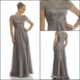Long Evening Dresses Chiffon Grey Online | Grey Chiffon Long ...