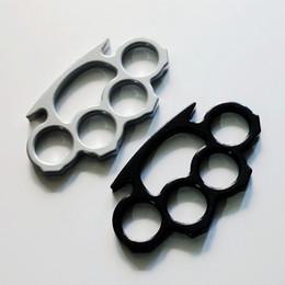 3pcs Knuckles Classique Thin Shape Silver et Black Thin Steel en laiton