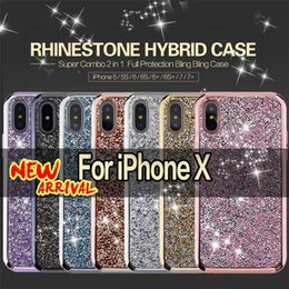 $enCountryForm.capitalKeyWord NZ - 2 in 1 Luxury Premium Commuter Case Bling Diamond Rhinestone Glitter Cases Cover For iPhone X 8 7 6 6S Plus Samsung S8 note 8 free DHL