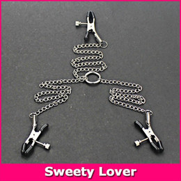 $enCountryForm.capitalKeyWord Canada - Sex Products Metal Nipple Clamps with Chain Stainless Steel Breast Nipple and Clitoris Clips Adult Games Sex Toys for Couples