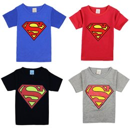 Barato Camiseta De Criança Aranha-Summer Style Baby Boys T-shirt Cartoon Pattern T-shirt Super Homem Spider-man T-shirt Crianças Meninos Vestuário Moda Crianças Top Tees