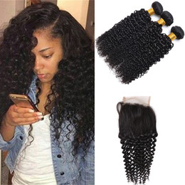 Discount 34 inch curly hair extensions 2017 34 inch curly hair 7a mongolian deep wave curly 3 bundles with lace closure unprocessed mongolian kinky curly wave human hair extension with lace closure 34 inch curly hair pmusecretfo Choice Image